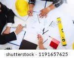 engineer people meeting working ... | Shutterstock . vector #1191657625