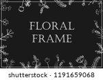 stylish floral frame  white on...   Shutterstock .eps vector #1191659068