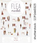 flea market poster with people... | Shutterstock .eps vector #1191660325