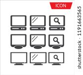 monitors icons  icon set vector ...   Shutterstock .eps vector #1191663565