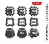 cpu icon vector  central...   Shutterstock .eps vector #1191663568