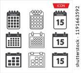 calendar icon set vector...   Shutterstock .eps vector #1191663592