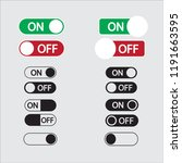 switch on off icon set icon...   Shutterstock .eps vector #1191663595
