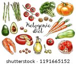food sketches. hand drawn... | Shutterstock . vector #1191665152