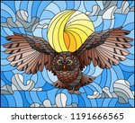 illustration in stained glass... | Shutterstock .eps vector #1191666565