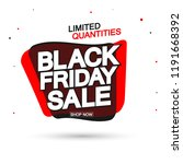 black friday sale tag  bubble... | Shutterstock .eps vector #1191668392