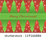 greeting card with christmas... | Shutterstock .eps vector #119166886