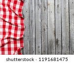 red checkered tablecloth on... | Shutterstock . vector #1191681475