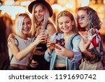 group of female friends taking... | Shutterstock . vector #1191690742