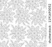 floral seamless pattern. | Shutterstock .eps vector #1191693052