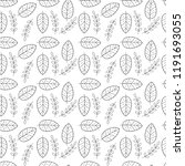 leaf seamless pattern. | Shutterstock .eps vector #1191693055