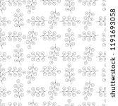 floral seamless pattern. | Shutterstock .eps vector #1191693058