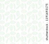 leaf seamless pattern. | Shutterstock .eps vector #1191693175