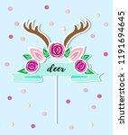 vector illustration with deer... | Shutterstock .eps vector #1191694645