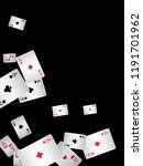 playing cards falling on black... | Shutterstock .eps vector #1191701962
