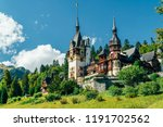 peles palace in sinaia city of... | Shutterstock . vector #1191702562