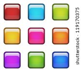color blank square glossy... | Shutterstock . vector #119170375
