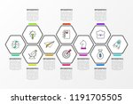 infographic design template.... | Shutterstock .eps vector #1191705505