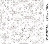 floral seamless pattern. cute... | Shutterstock .eps vector #1191707002