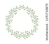 ivy or vine christmas wreath...   Shutterstock .eps vector #1191710875