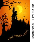 scary dark forest with a fairy... | Shutterstock .eps vector #1191715705