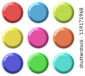 color blank round glossy... | Shutterstock . vector #119171968
