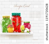 retro collection delicious and... | Shutterstock .eps vector #1191720628