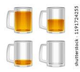 beer mug on a white background | Shutterstock .eps vector #1191724255