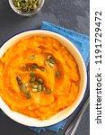 fresh homemade vegan pumpkin...   Shutterstock . vector #1191729472