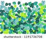 sea green tropical jungle... | Shutterstock .eps vector #1191736708