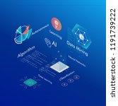 machine learning  ai  data... | Shutterstock .eps vector #1191739222
