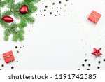 christmas tree with red... | Shutterstock . vector #1191742585