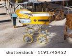 vintage baby buggy or stroller  ...   Shutterstock . vector #1191743452