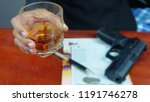 .businessman with gun and... | Shutterstock . vector #1191746278