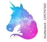 artistic silhouette of fantasy... | Shutterstock .eps vector #1191747265