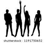 vector silhouettes men and... | Shutterstock .eps vector #1191750652