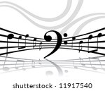 abstract musical lines with... | Shutterstock .eps vector #11917540