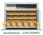 different kinds of bread... | Shutterstock .eps vector #1191760945