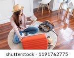 young asian woman traveler... | Shutterstock . vector #1191762775