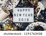 happy new year 2019 on light... | Shutterstock . vector #1191763438