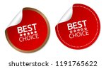best choice stickers | Shutterstock .eps vector #1191765622