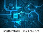 high tech electronic circuit... | Shutterstock .eps vector #1191768775
