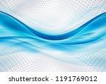blue waves on halftone white... | Shutterstock . vector #1191769012