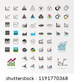 graph icon. business analytics... | Shutterstock .eps vector #1191770368