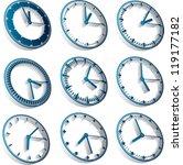 3d clocks  third dimension time ...   Shutterstock .eps vector #119177182