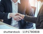 negotiating business ... | Shutterstock . vector #1191780808
