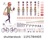 young red haired man character... | Shutterstock .eps vector #1191784405