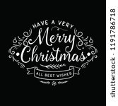 merry christmas. typography.... | Shutterstock .eps vector #1191786718