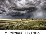 Storm Clouds Saskatchewan Wind...