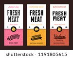 vector butchery logo. fresh... | Shutterstock .eps vector #1191805615